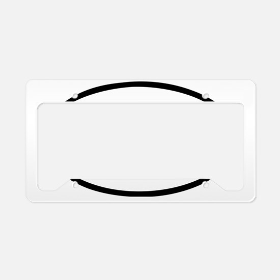 Dive License Plate Holder