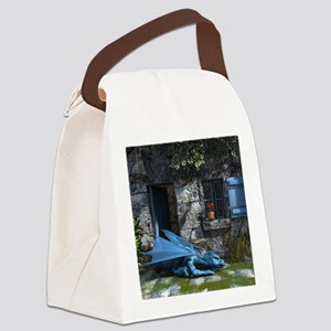 Baby_Blue Canvas Lunch Bag