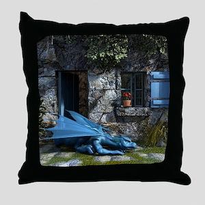 Baby_Blue Throw Pillow