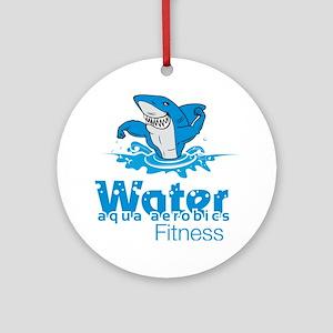 Tommy Mac Aqua Aerobics Water Fitne Round Ornament