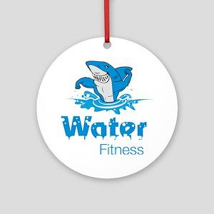TMac Water Aqua Aerobics Fitness Round Ornament