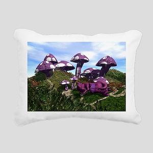 Mushrooms Rectangular Canvas Pillow