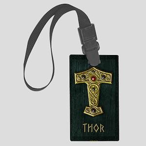 Thors Hammer UP Gold THOR Large Luggage Tag