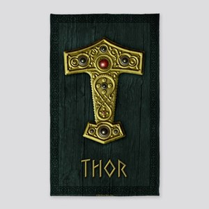 Thors Hammer UP Gold THOR 3'x5' Area Rug