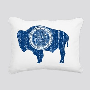 Wyoming_blu_shirt Rectangular Canvas Pillow