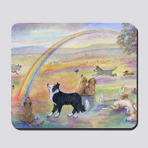waiting at the rainbow bridge - dogs  Mousepad