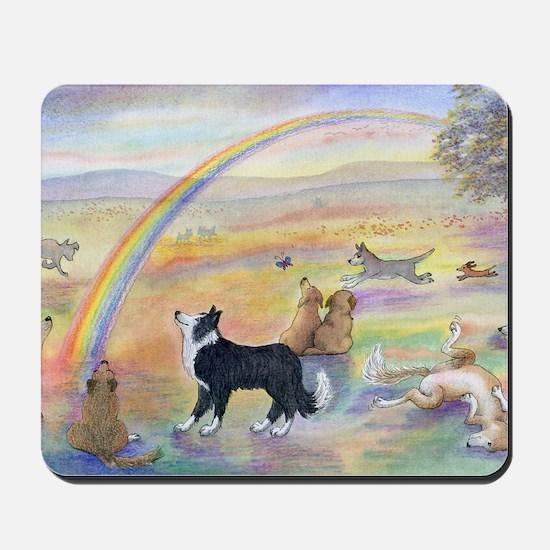 waiting at the rainbow bridge - dogs jpg Mousepad