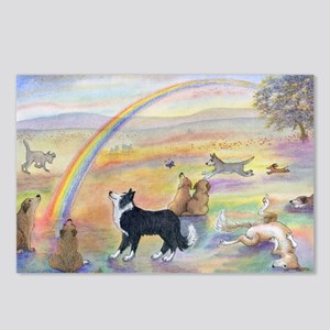 waiting at the rainbow br Postcards (Package of 8)