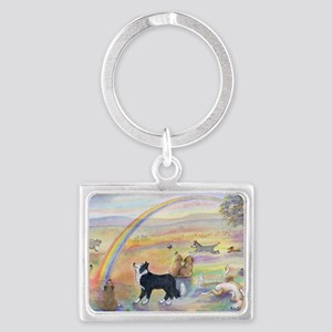 waiting at the rainbow bridge - Landscape Keychain