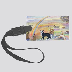 waiting at the rainbow bridge -  Large Luggage Tag