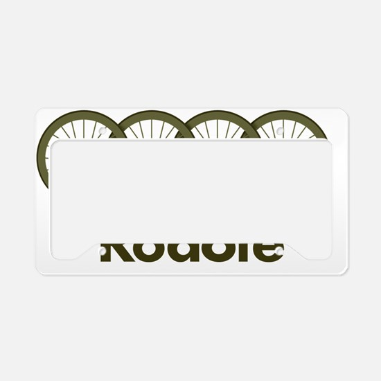 Roadie cycling Shirt - Green License Plate Holder