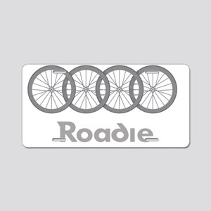 Roadie Cycling Shirt - Whit Aluminum License Plate