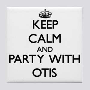 Keep Calm and Party with Otis Tile Coaster