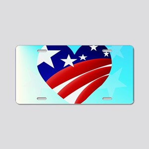 Big American Heart-Yardsign Aluminum License Plate