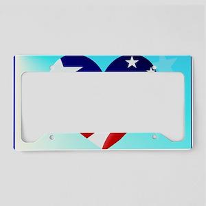 Big American Heart-Yardsign License Plate Holder