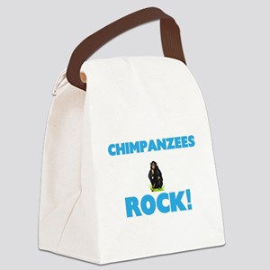 Chimpanzees rock! Canvas Lunch Bag