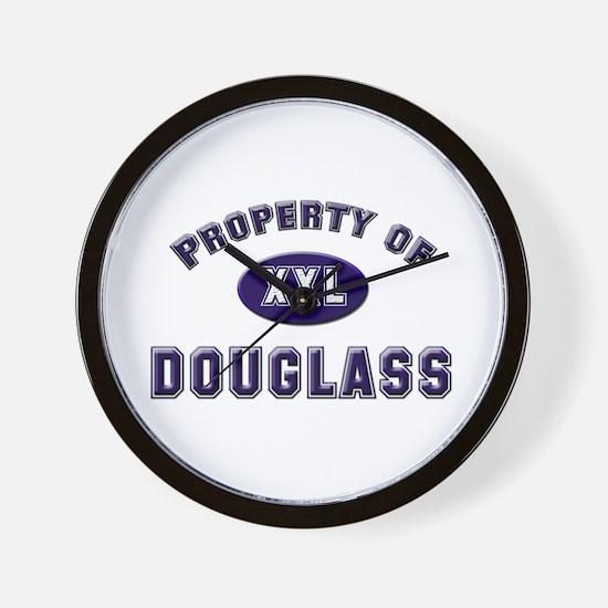 Property of douglass Wall Clock