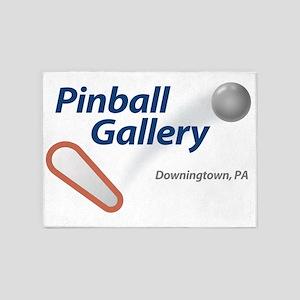 Pinball Gallery Logo 5'x7'Area Rug