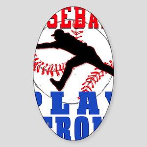 PSBaseball Sticker (Oval)