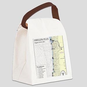 Oregon Map Canvas Lunch Bag