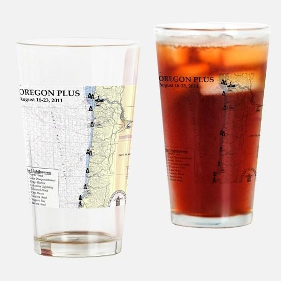 Oregon Map Drinking Glass