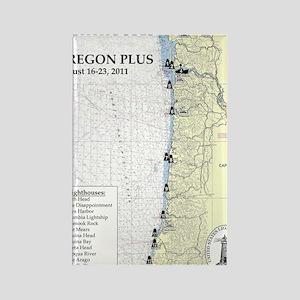 Oregon Map Rectangle Magnet
