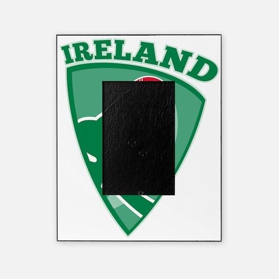 cricket ball shamrock Ireland shield Picture Frame