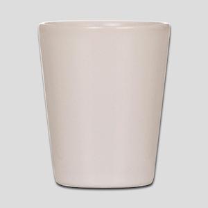 Peace Demand White Shot Glass