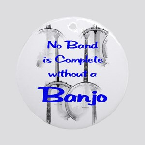 Banjo Ornament (Round)