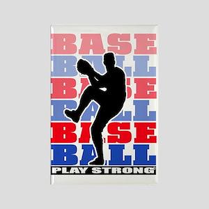 PSBaseball2a Rectangle Magnet
