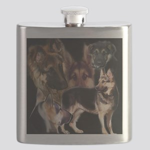 german shpherd collage Flask