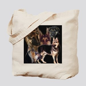 german shpherd collage Tote Bag