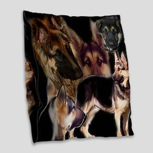 german shpherd collage Burlap Throw Pillow