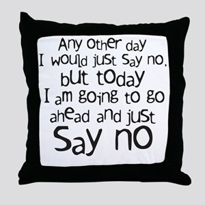 sayno Throw Pillow