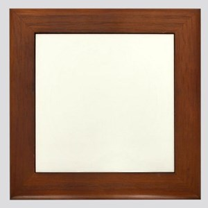 cthulhu white Framed Tile