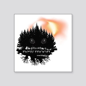 "Twilight New Moon Forest Ec Square Sticker 3"" x 3"""