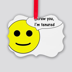 Tenured - smiley Picture Ornament