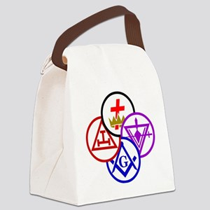 york-pinwheel-alt Canvas Lunch Bag