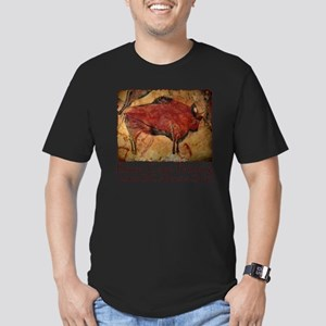 cave bison spain Men's Fitted T-Shirt (dark)