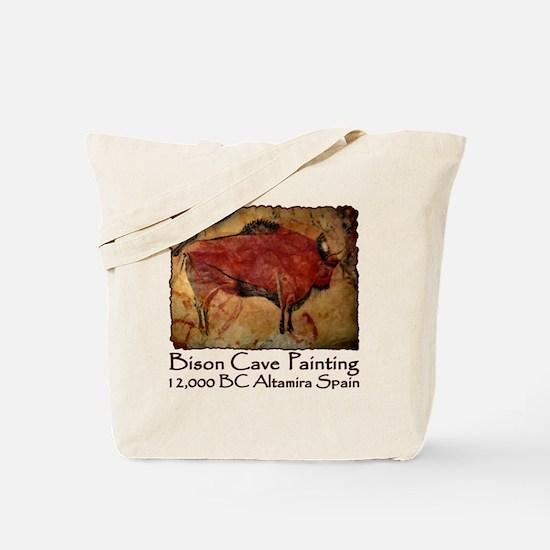 cave bison spain Tote Bag
