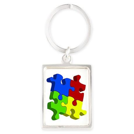puzzle_connect_final.eps Portrait Keychain