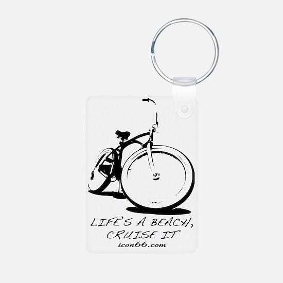 Bike - White Keychains