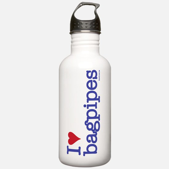 i heart bagpipes bottl Water Bottle