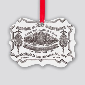 french label Picture Ornament