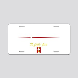 San Francisco Script B Aluminum License Plate