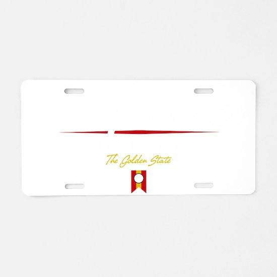 San Francisco Script B Aluminum License Plate