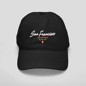 San Francisco Script B Black Cap