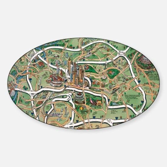 Atlanta Blanket Sticker (Oval)