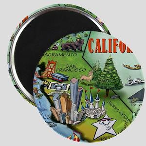 California Map Blanket Magnet