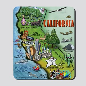 California Map Blanket Mousepad